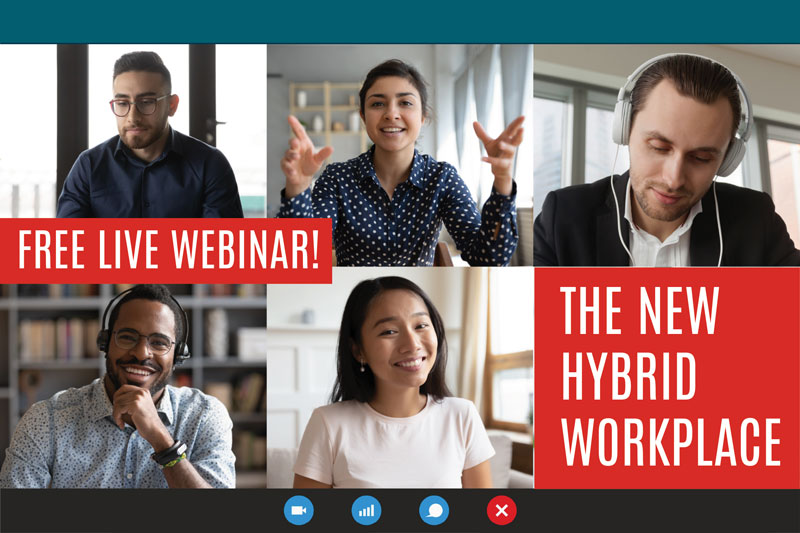 Reopening? Don't miss our live webinar tomorrow: The New Hybrid Workplace