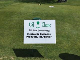 The Sister's of St. Joseph's Golf Sign