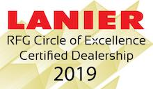 Lanier RFG Circle of Excellence Certified Dealership 2018 Badge