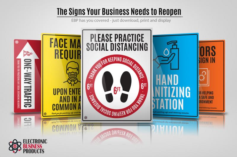 THE PRINTABLE SIGNS YOUR BUSINESS WILL NEED TO REOPEN ARE HERE